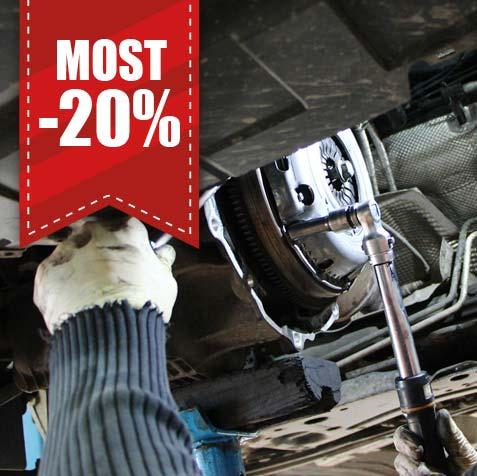 Kuplungcsere most -20% kedvezménnyel az alkatrészek árából, ingyenes csereautóval!