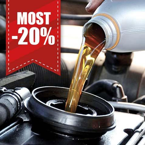 Csak szombatonként -20% kedvezmény a teljes olajcsere és a munkadíj árából!