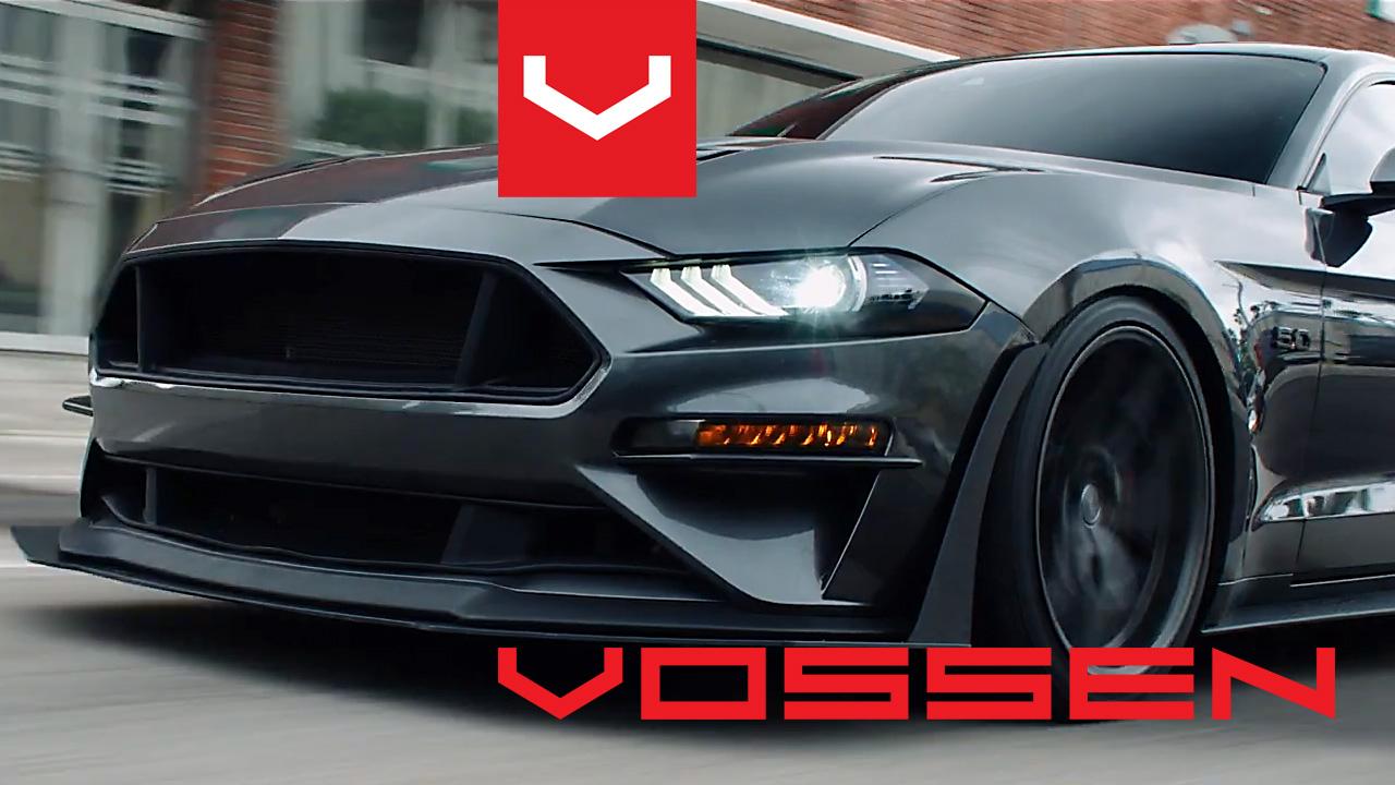 Vossen Hybrid Forged HF-5 alufelnik és egy Ford Mustang GT 5.0