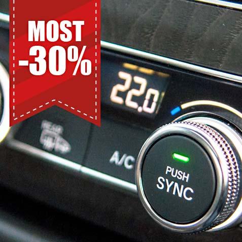 Autóklíma tisztítás és töltés akció
